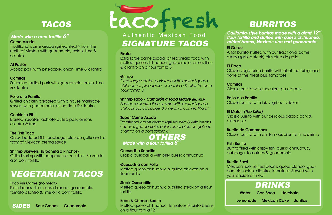 Mexican food truck menus the image kid for Kitchen 88 food truck utah menu